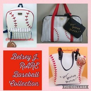 24HR SALE✨Betsey Johnson Baseball Collection 3 pcs